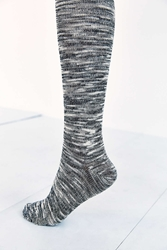 Urban Outfitters Slouchy Over The Knee Sock Black