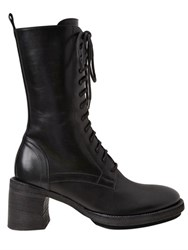 Ann Demeulemeester 75Mm Lace Up Leather Boots