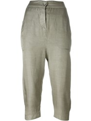 Kristensen Du Nord Drop Crotch Cropped Trousers Grey