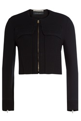Roland Mouret Cropped Jacket With Wool Black