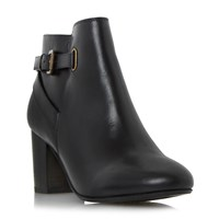 Linea Oppal Buckle Strap Ankle Boots Black