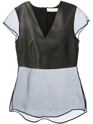 Thakoon Addition Contrast Top Black