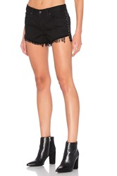 Rag And Bone Studded Cut Off Short Studded Black