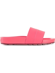 Hunter 'Eva' Slide Sandals Pink And Purple