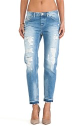 Maison Scotch Ripped Boyfriend Le Garcon With Distressed Hem Medium Wash