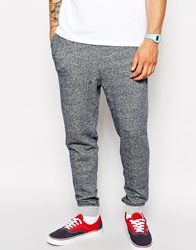 Solid Solid Salt And Pepper Drop Crotch Sweat Pants Navy