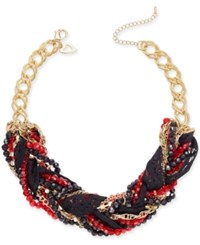 Thalia Sodi Chain Link Statement Necklace Only At Macy's Black Red