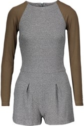 Kain Label Lena Two Tone Stretch Modal Playsuit Gray