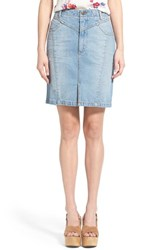 Women's Minkpink 'Street Riot' Denim Pencil Skirt