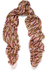 Isabel Marant Garson Printed Modal And Cashmere Blend Scarf Multi