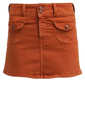 Pepe Jeans Poppins Mini Skirt Cognac
