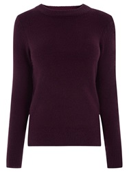 Oasis The Perfect Crew Neck Jumper Burgundy
