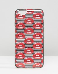 Signature Lips Printed Iphone 6 Case Red