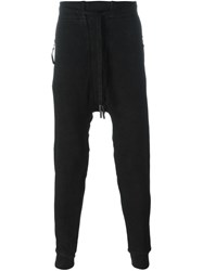 11 By Boris Bidjan Saberi Cuffed Drop Crotch Pants Black