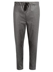 Rag And Bone Everett Drawstring Wool Blend Trousers Grey