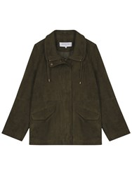 Gerard Darel Verona Leather Jacket Dark Green