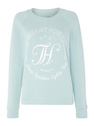 Tommy Hilfiger Perfect Track Long Sleeve Top Light Blue