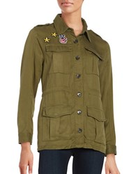 Honey Punch Patch Military Jacket Olive