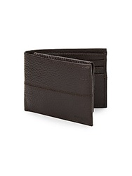 Cole Haan Pebbled Leather Passcase Wallet Chocolate