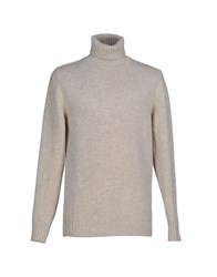 Gray Knitwear Turtlenecks Men Light Grey