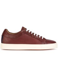 Paul Smith Lace Up Sneakers Red