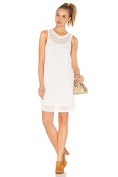 Bella Luxx Shadow Stripe Tank Dress White