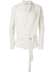 Nuur Jacquard Cardi Coat Nude And Neutrals