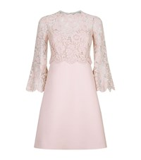 Valentino Lace Overlay Dress Female Pink