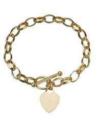 Love Gold 9 Carat Yellow T Bar Bracelet And Heart