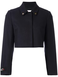 Red Valentino Cropped Jacket Blue