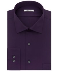 Van Heusen Men's Classic Fit Non Iron Performance Dress Shirt Purple