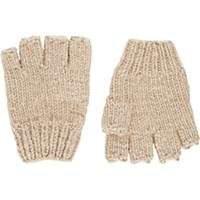 The Elder Statesman Women's Knit Fingerless Gloves Tan