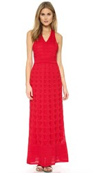 M Missoni Knit Racer Back Maxi Dress Red