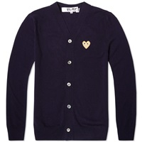 Comme Des Garcons Play Gold Heart Cardigan Navy