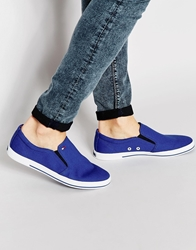 Tommy Hilfiger Harry Slip On Plimsolls Blue