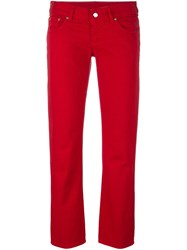 Maison Martin Margiela Mm6 Cropped Jeans Red