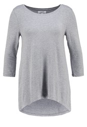 Zalando Essentials Long Sleeved Top Mid Grey Melange Mottled Grey