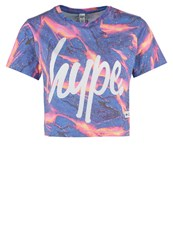Hype Liquid Lava Print Tshirt Multi Blue