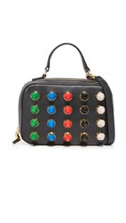 Milly Color Studs Mini Satchel Black