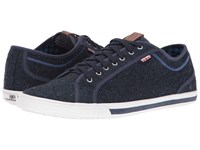 Ben Sherman Chandler Lo Coated Canvas Navy Blazer Men's Lace Up Casual Shoes