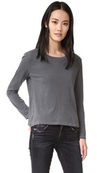 Amo Twist Long Sleeve Tee Faded Black
