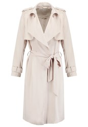 Miss Selfridge Fluid Trenchcoat Taupe Beige