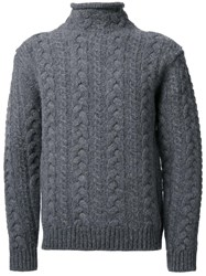 Bedwin And The Heartbreakers Cable Knit Jumper Grey