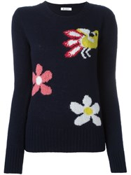 Dondup Flower Jumper Blue