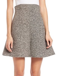Red Valentino Tweed High Waisted Skirt Black