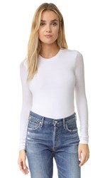 Atm Anthony Thomas Melillo Long Sleeve Bodysuit White