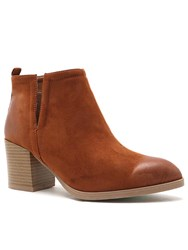 Qupid Wilson Ankle Boot Brown