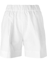 Forte Forte Front Pleat Shorts White