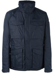Save The Duck Flap Pocket Padded Jacket Blue