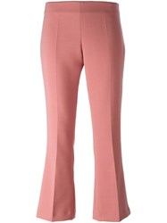 Erika Cavallini Cropped Tailored Trousers Pink And Purple